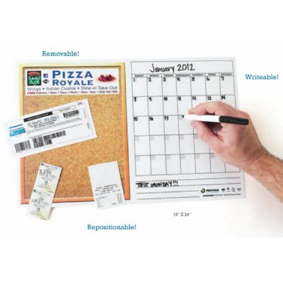 "Stik-Withit® Dry Erase Fridgestrip® Combo Board (16""x24"")"