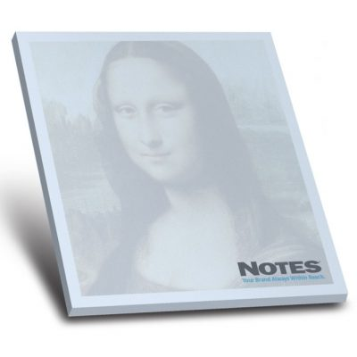 "25-Sheet Stik-Withit® Adhesive Notepad w/ Colored Paper (4""x4"")"