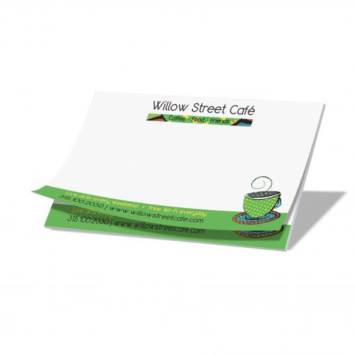 "25-Sheet Stik-Withit® Adhesive Notepad w/Colored Paper (5""x3"")"