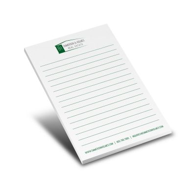 "50-Sheet Stik-Withit® Adhesive Notepad w/Colored Paper (4""x6"")"